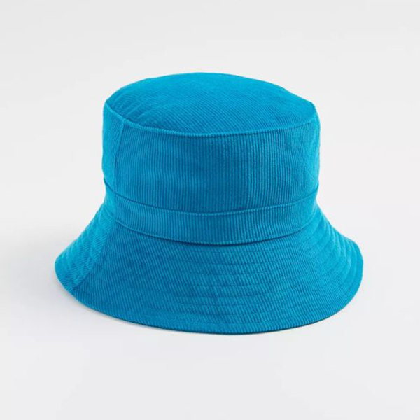 A blue corduroy bucke that.
