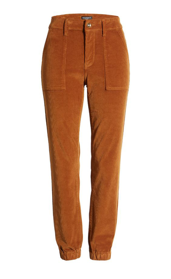 A pair of plus-size corduroy pants.