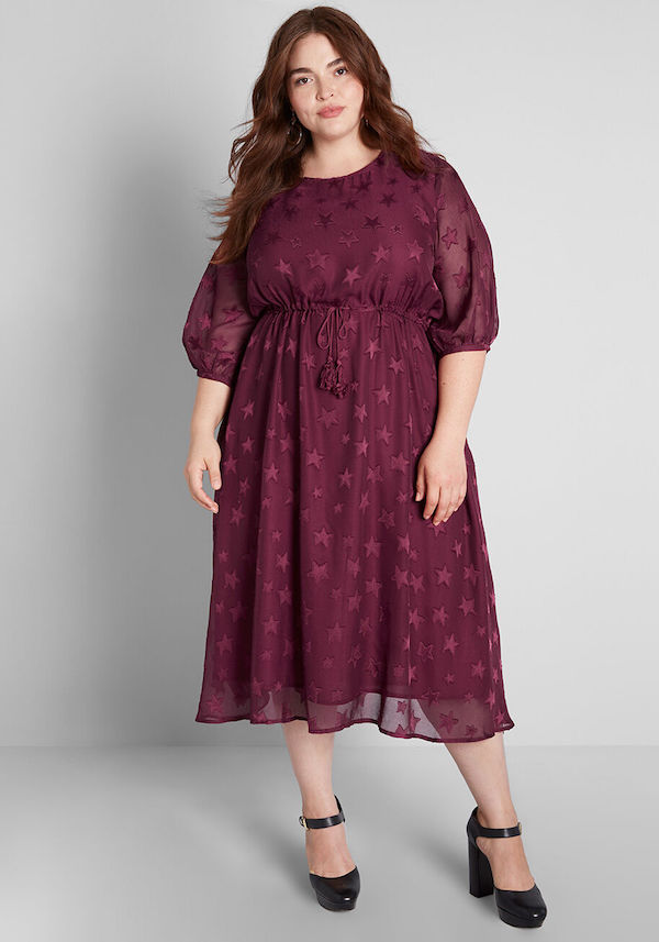 UNRULY | Plus-Size Winter Wedding Guest Dresses