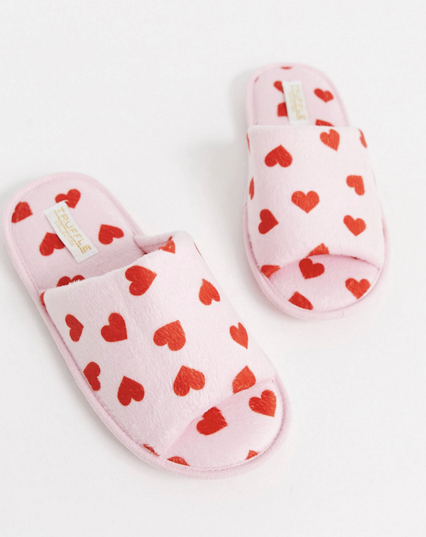 Heart Patterned Slippers