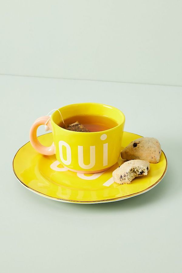 Yellow Mug with Oui