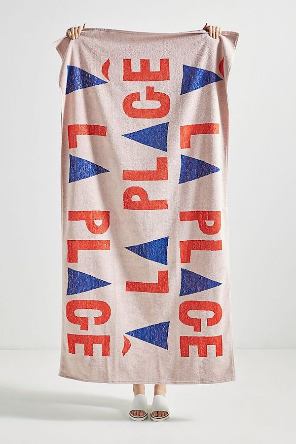 Red and Blue Beach Towel