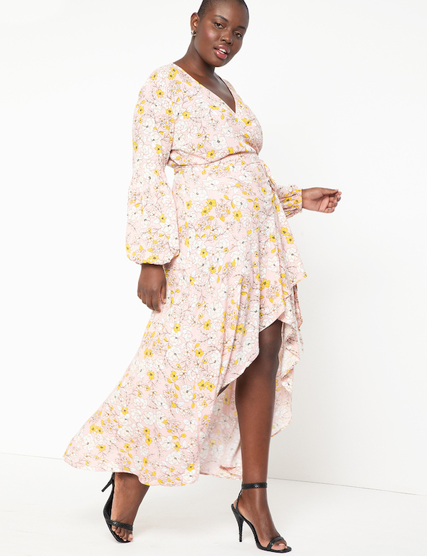 Yellow and Pink Floral Dress