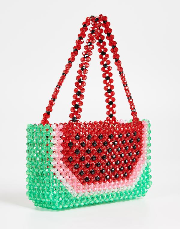 beaded watermelon design bag