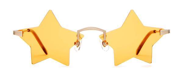 yellow star-shaped sunglasses