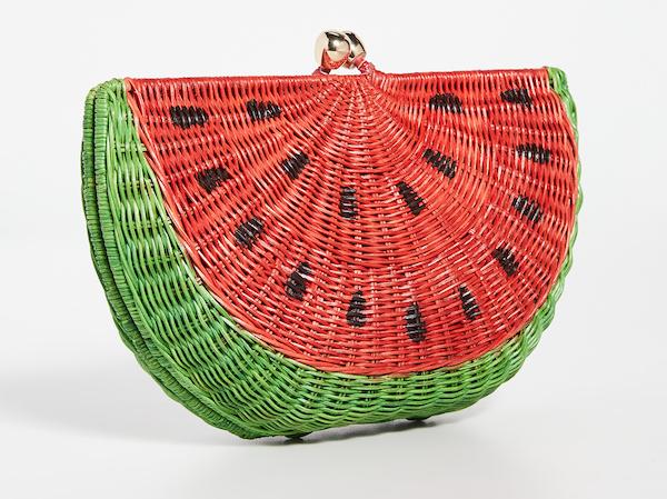 watermelon straw clutch