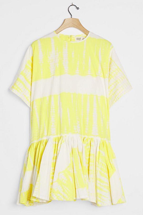 A plus-size tie-dye dress.