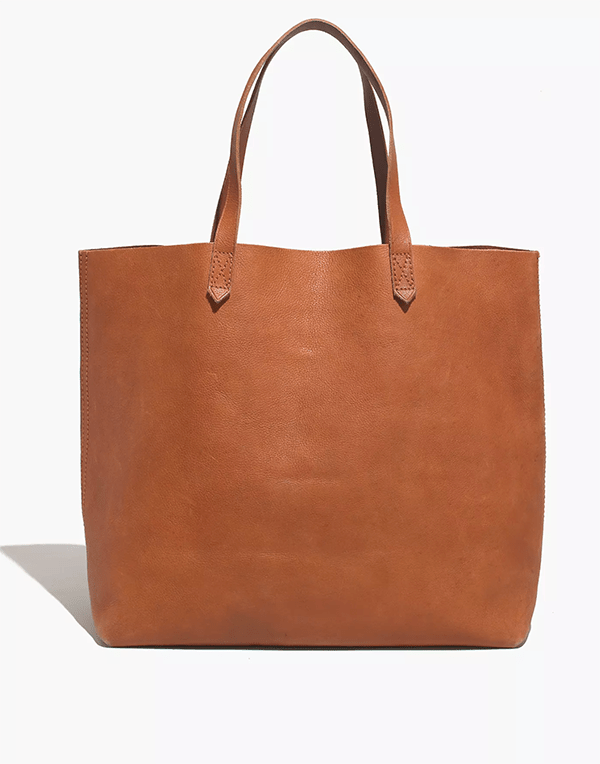 A brown leather tote, which will be marked down at Madewell's 2020 Black Friday sale.