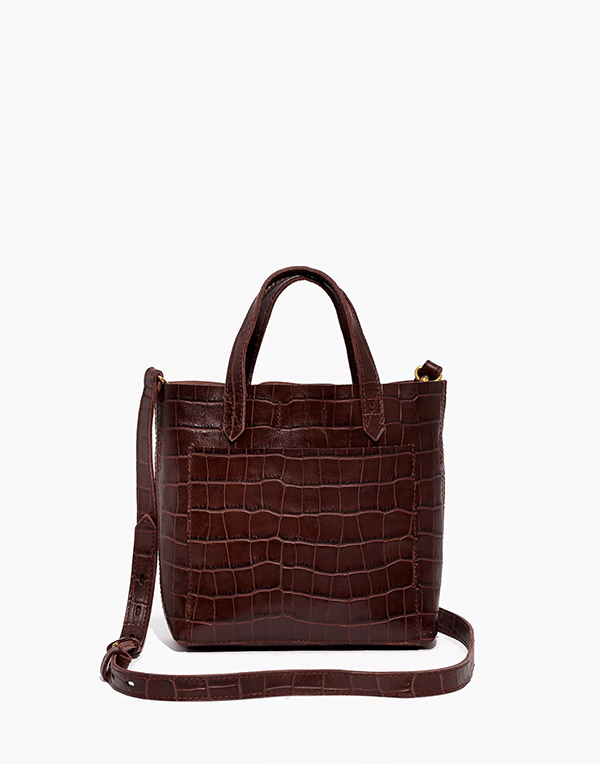 A brown crocodile bag, which will be marked down at Madewell's 2020 Black Friday sale.