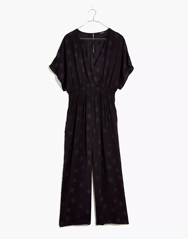 A black jumpsuit, which will be marked down at Madewell's 2020 Black Friday sale.