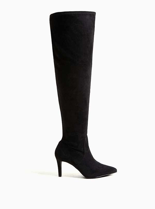 A wide-calf over-the-knee boot, which will be marked down at Torrid's 2020 Black Friday sale.