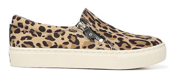 Wide-fit slip-on sneakers in leopard print.