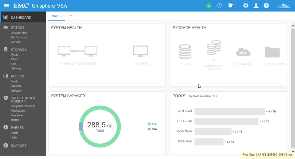 UnityVSA - Dashboard
