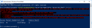 Installation Microsoft Exhange 2016 on Windows Server 2016 - PowerShell Fault