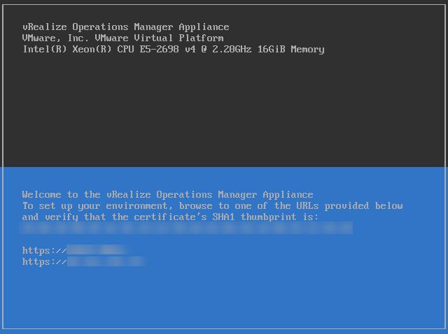 vROPS 6.6 - Main Screen
