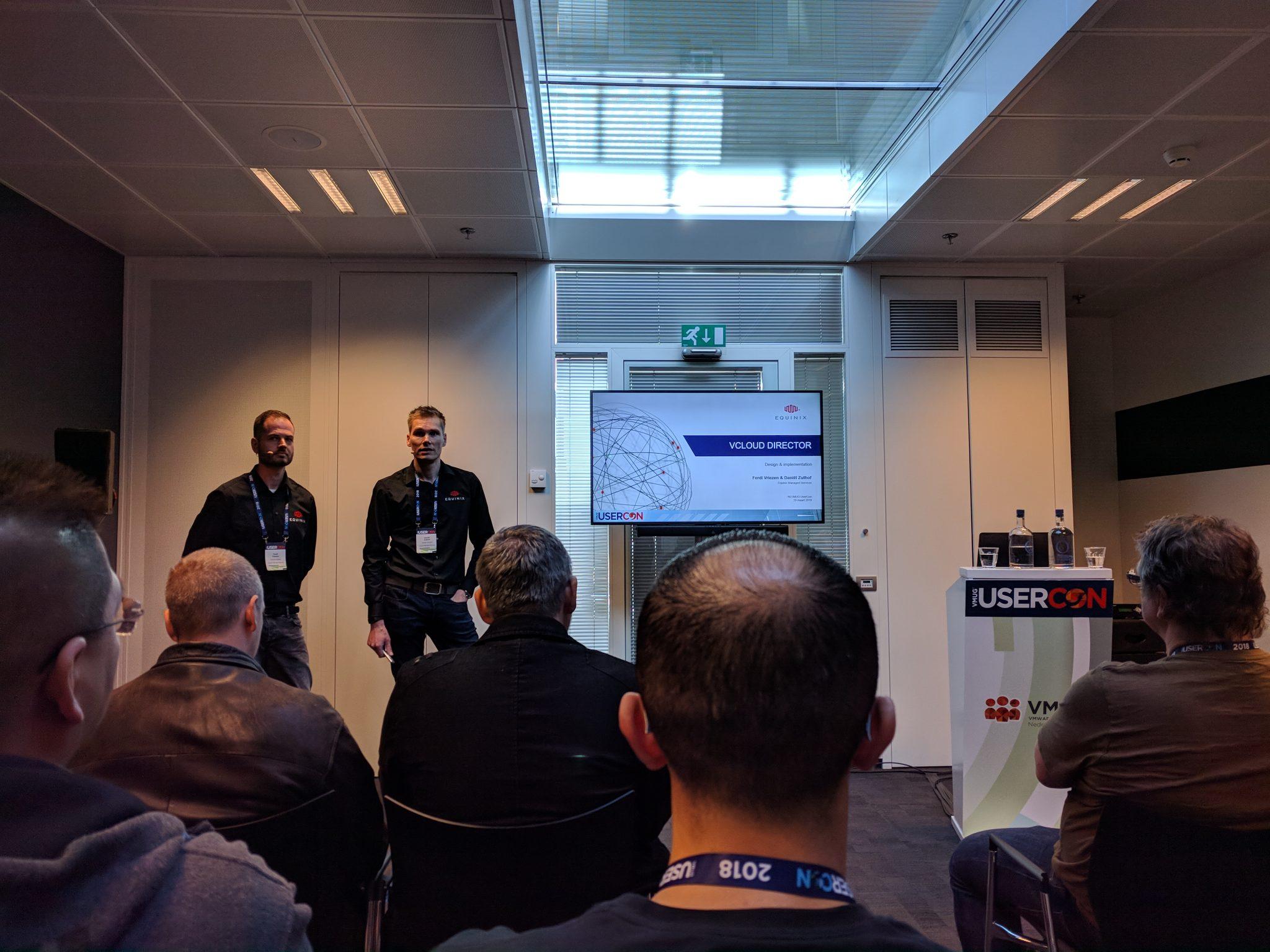 Equinix session about vCloud Director by Ferdi Vriezen & Daniël Zuthof