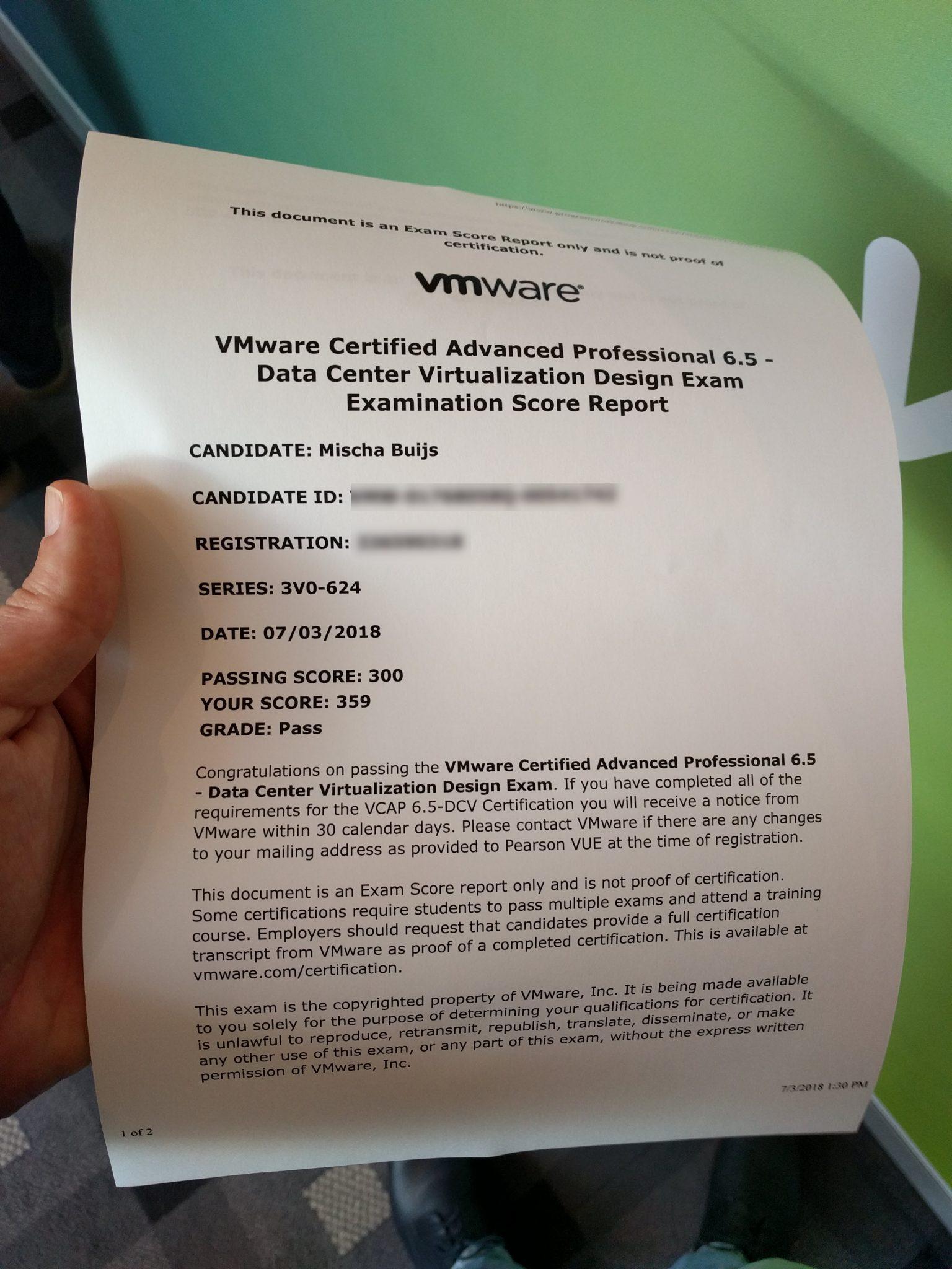 VMware VCAP6 5-DCV Design Exam Experience - Be-Virtual net