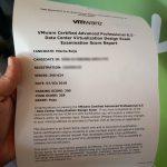 VCAP6.5-DCV Score Report