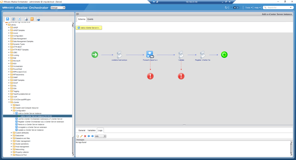 vRealize Orchestrator - Add vSphere Endpoint - 02