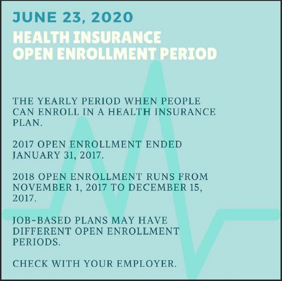 Open Enrollment for Health Insurance | the lay of the land