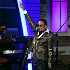 LOS ANGELES, CA - FEBRUARY 12: Recording artist Morris Day performs a tribute to Prince onstage during The 59th GRAMMY Awards at STAPLES Center on February 12, 2017 in Los Angeles, California.   Kevork Djansezian/Getty Images/AFP