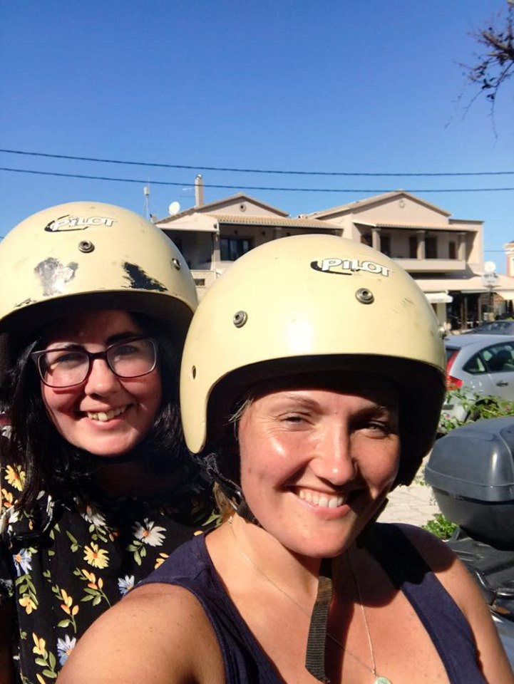 Photo of Bea and Stacey on the quad bike