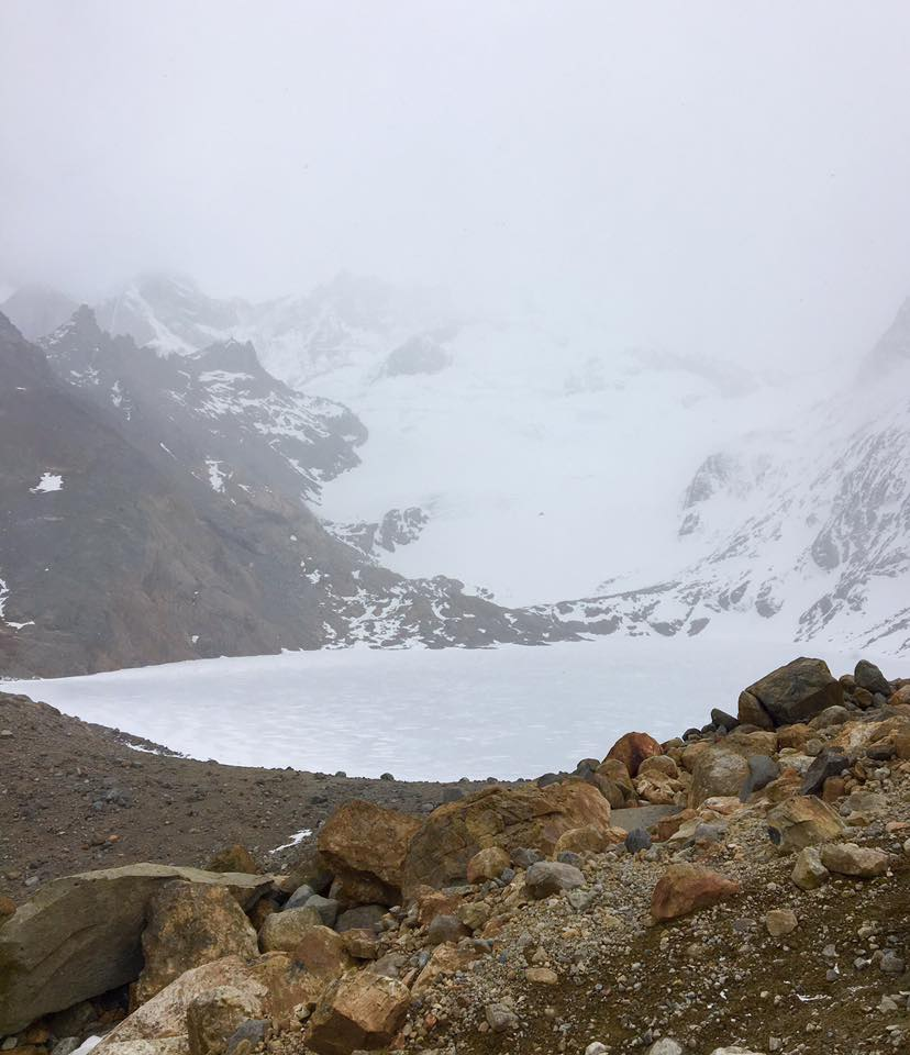 "The ""view"" of Fitz Roy was non-existent as it was covered in fog!"