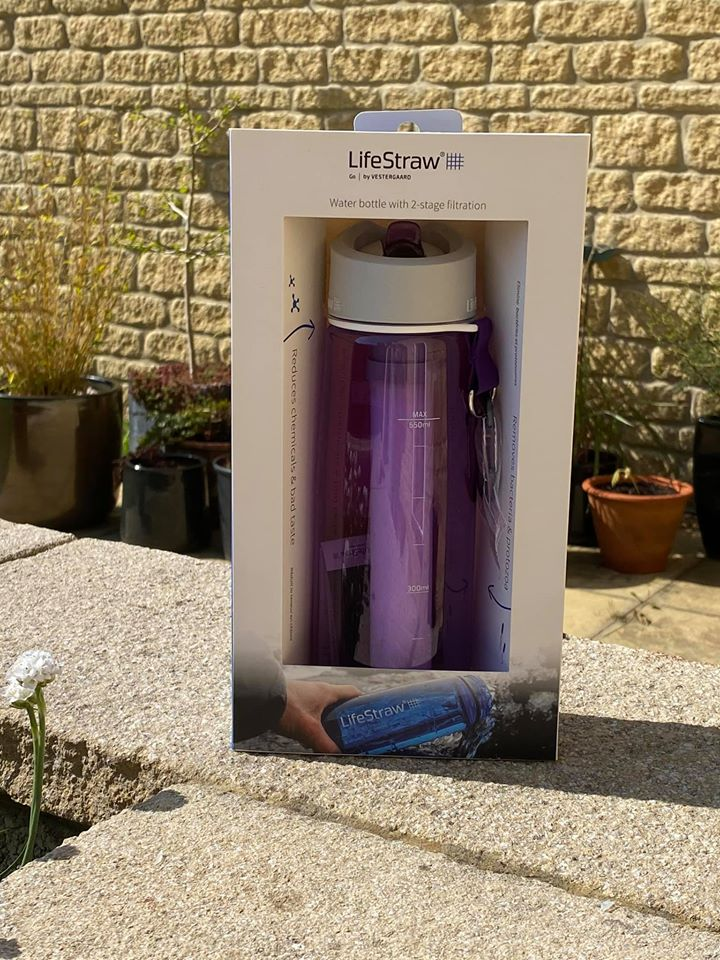 Image of my Lifestraw Bottle, still in its packaging