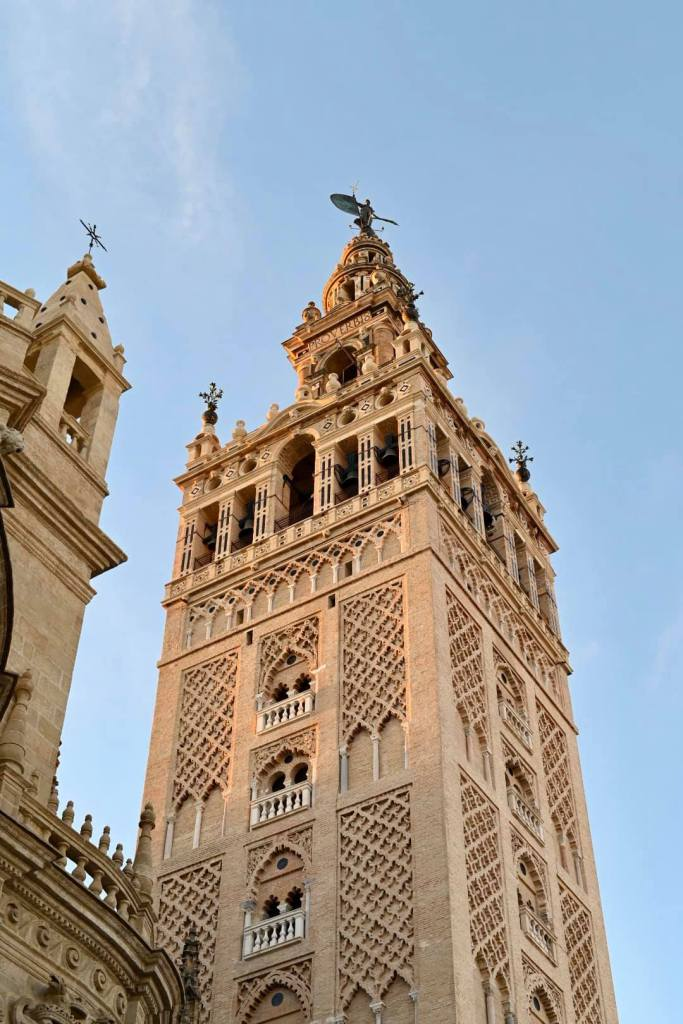 One of the imposing towers of Seville Cathedral