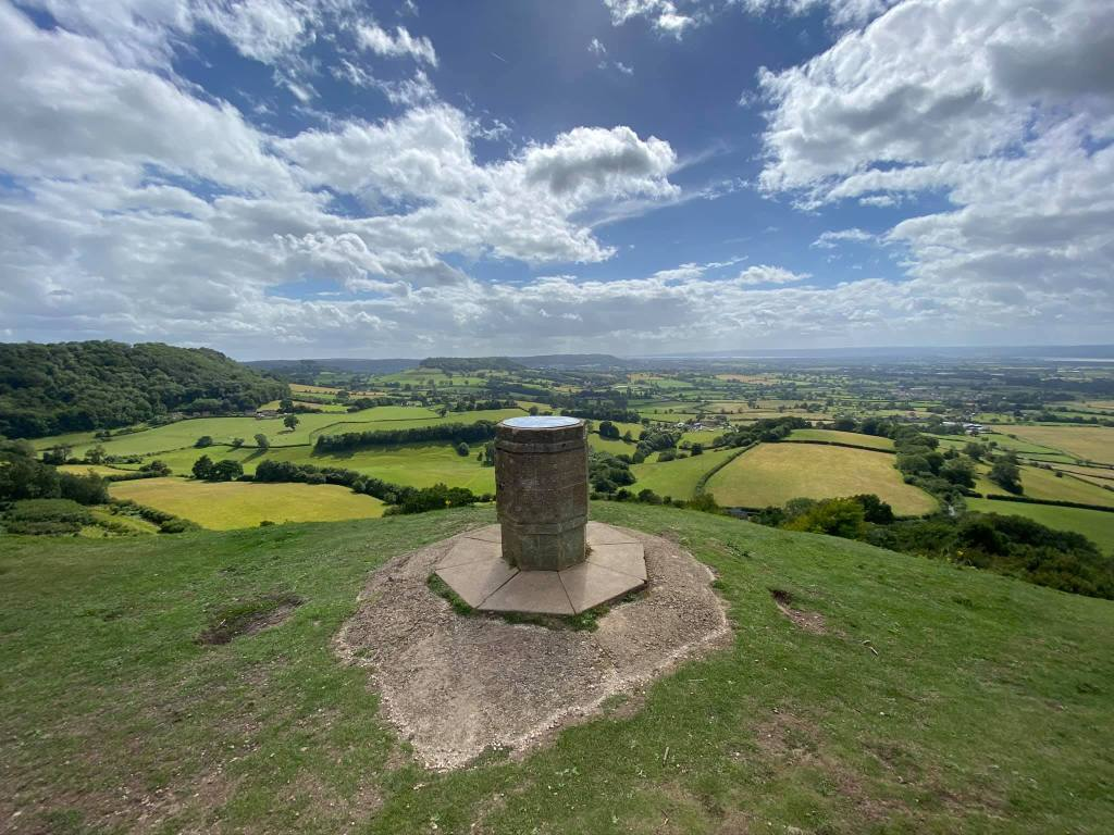 Coley Peak trigger point overlooking the Gloucestershire countryside!