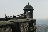 One o'clock gun at Edinburgh Castle.