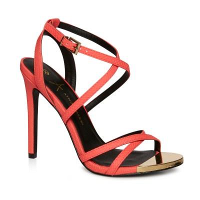 Coral strappy heels £14