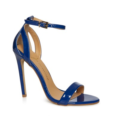 Navy patent ankle strap heels £12