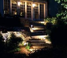 outdoor lighting for steps and path