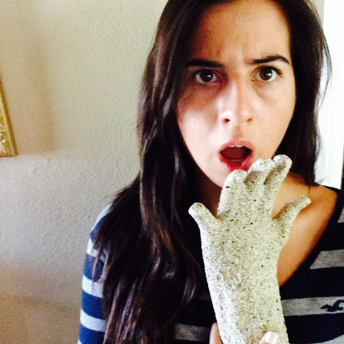 """Millie Herrera is """"shocked"""" by the way her plaster casting of her hand came out"""