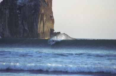 cave surfing near rocks