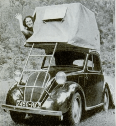early folding rooftop tent
