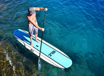 """ISLE 10'8 Soft Top Stand Up Paddle Board Package (5"""" Thick) - Includes Adjustable Paddle, Center Carry Handle , Center Fin and Built in Non Slip Deck Grip"""