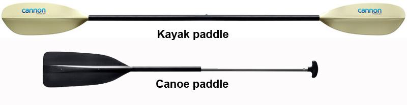 canoe blade vs kayak blade