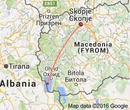 distance from skopje to lake ohrid