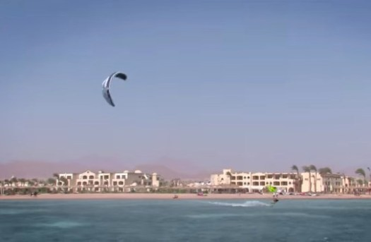kite surfing upwind