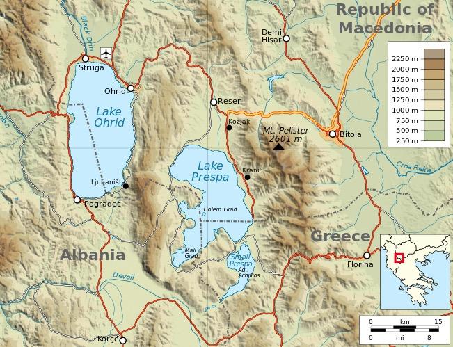 lake ohrid location