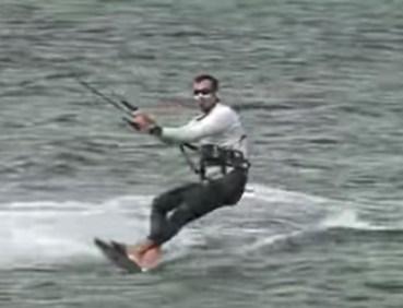 upwind tacking when kiteboarding