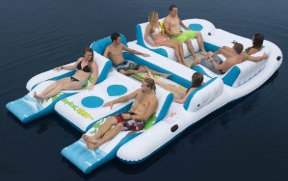 Giant Floating Island Raft 8-Person Capacity