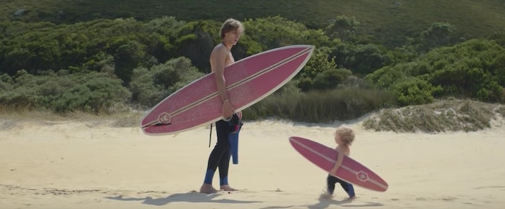 babies surfing