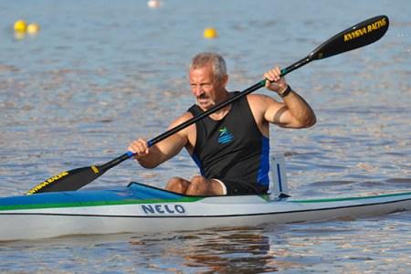 man kayaking