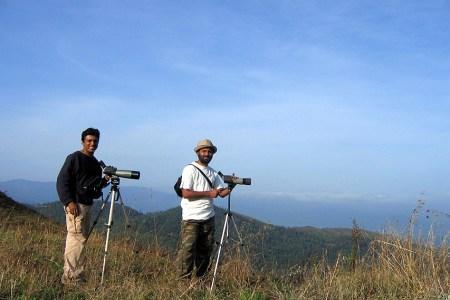 birding and wildlifing spotting scope