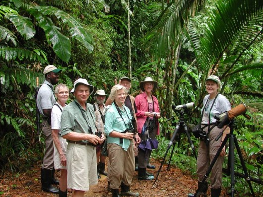 group of bird watchers tobago
