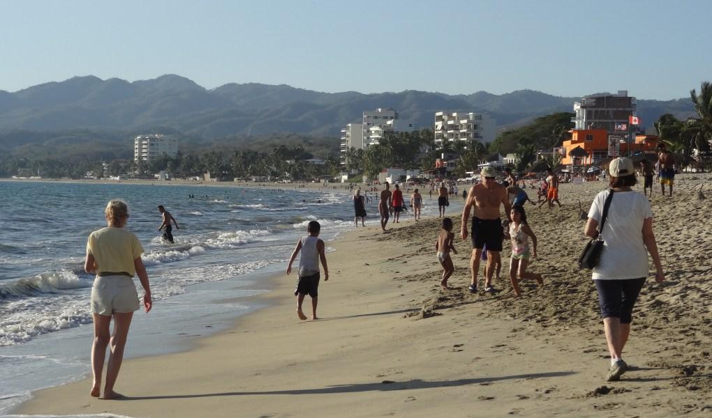 Seniors Walking the Beach