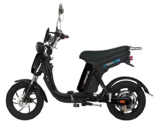 GIGABYKE GROOVE 48V 750W Eco-Friendly Electric Moped Scooter E-Bike- Black